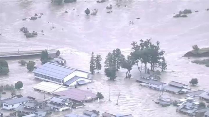 Al menos 40 muertos en Japón por el tifón 'Hagibis'