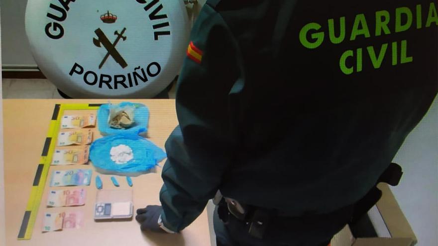 Detenido en Porriño con 32 gramos de coca y 1.200 dosis de heroína