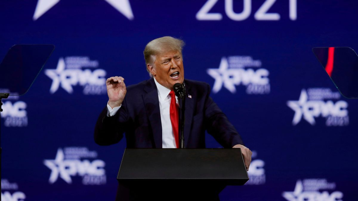 Donald Trump, durante un mitin