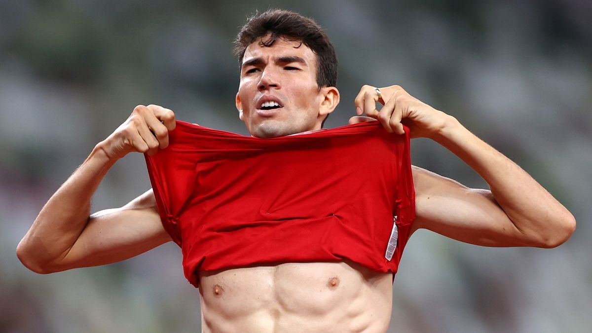 Adel Mechaal, tras lograr su pase a la final de 1.500 metros.