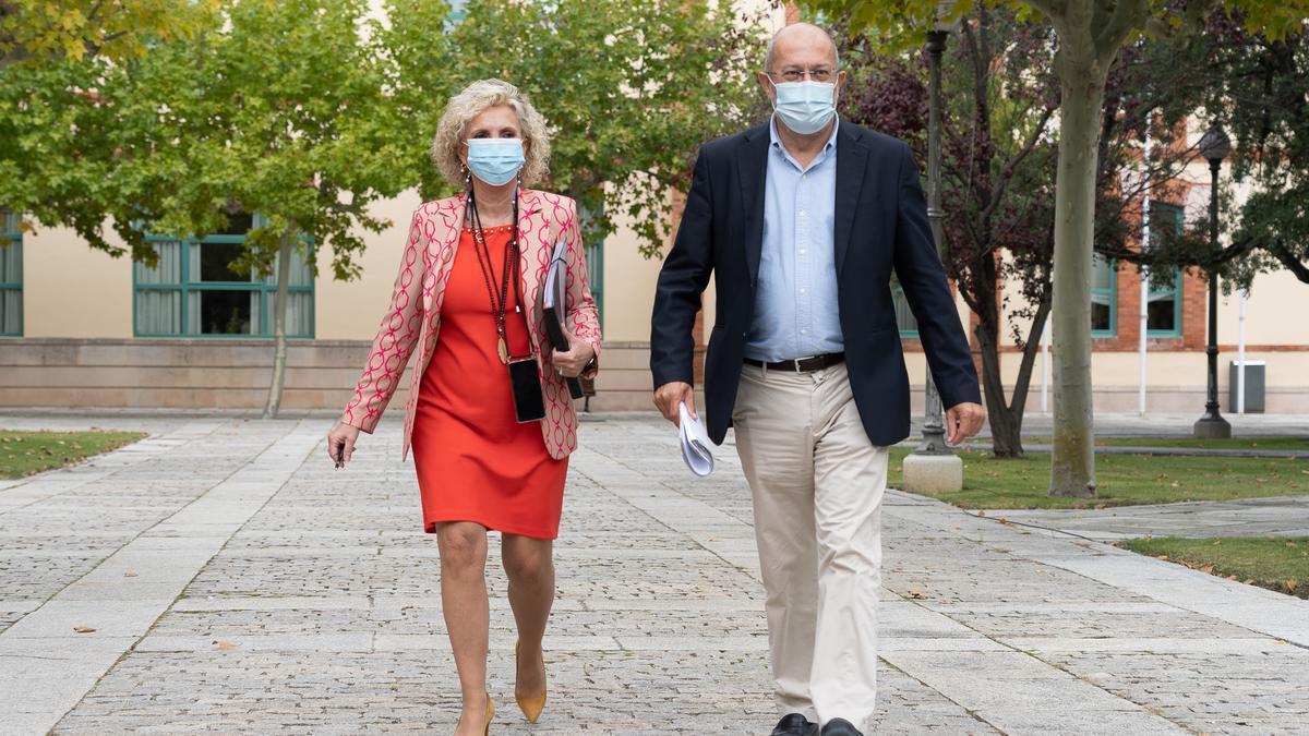 Verónica Casado y Francisco Igea.