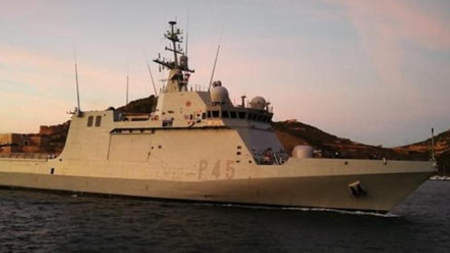 Así es el 'Audaz', el buque de la Armada que trasladará a Palma a los migrantes del Open Arms