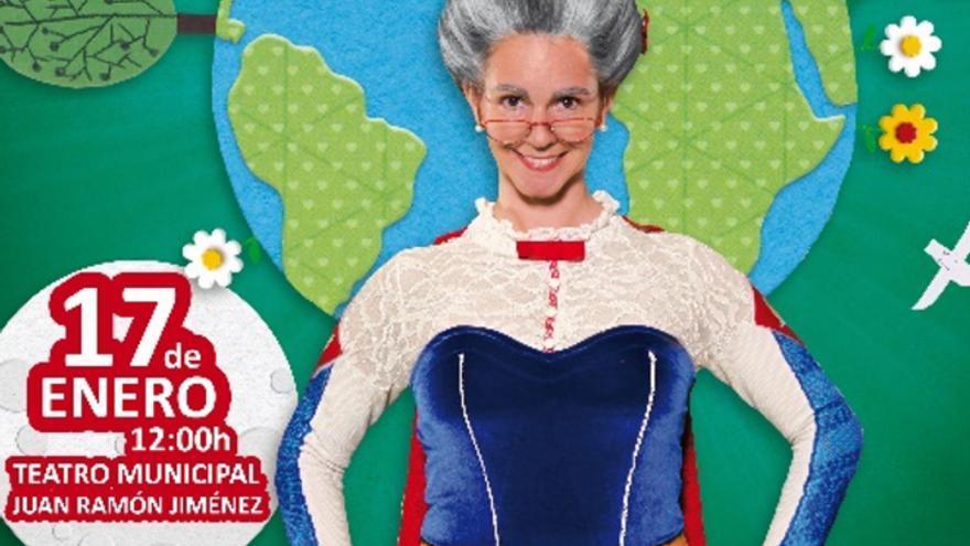 Los poderes de la Súper Abuela invaden el escenario del Teatro Municipal Juan Ramón Jiménez