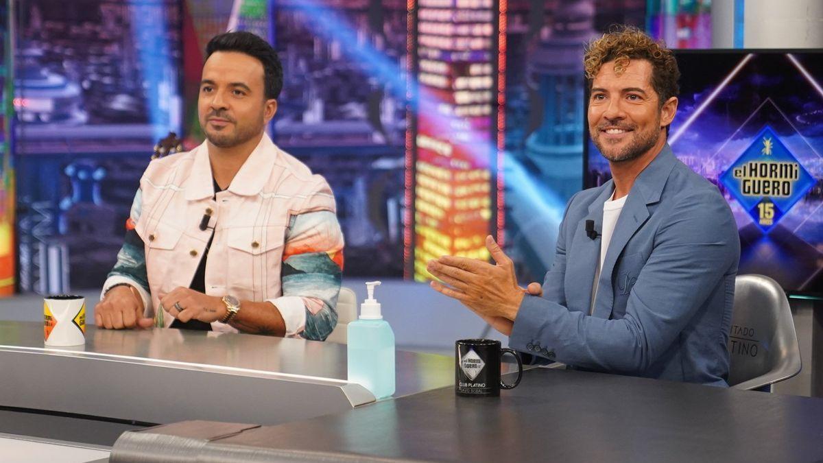 David Bisbal y Luis Fonsi en 'El Hormiguero'.