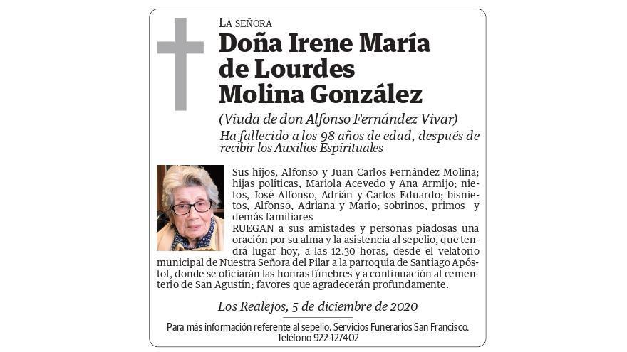 Irene María de Lourdes Molina González