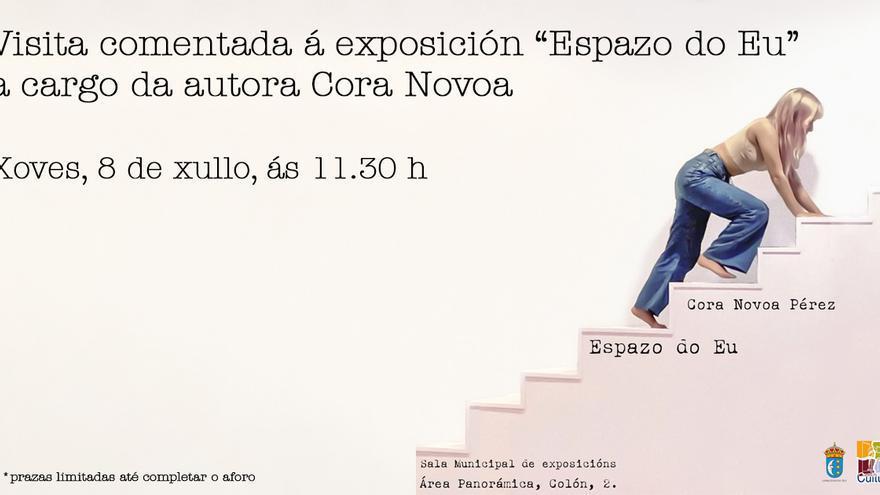 Visita comentada á exposición Espazo do Eu pola autora Cora Novoa