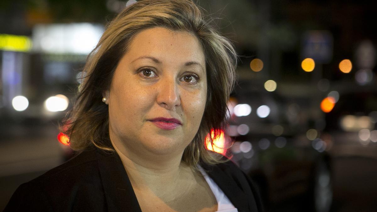 Yolanda Díaz, coordinadora de la Plataforma Feminista de Alicante