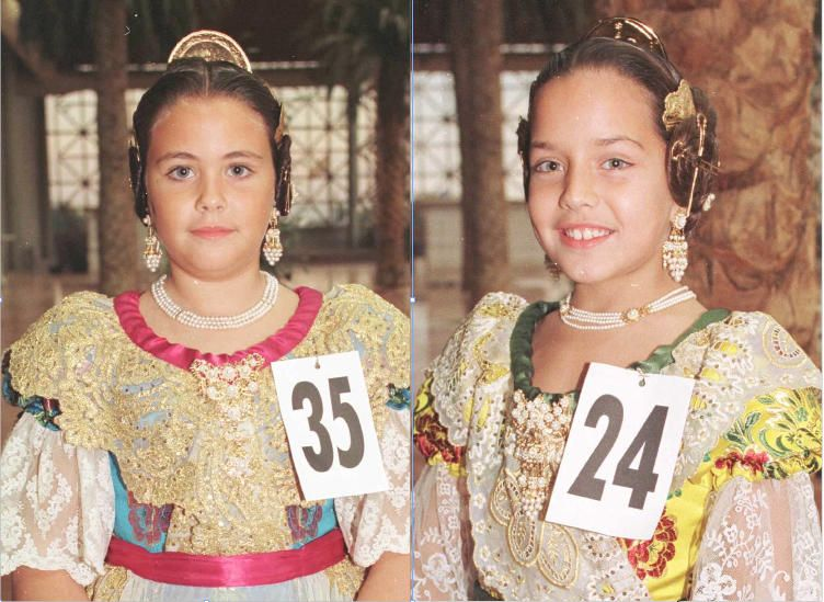 Corte 1998. La corte infantil sería protagonista años después. Especialmente estas dos niñas. ¿Sabeis quienes son?