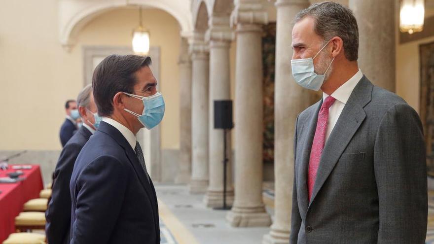 El Rey pide cooperar e innovar ante la crisis de la pandemia
