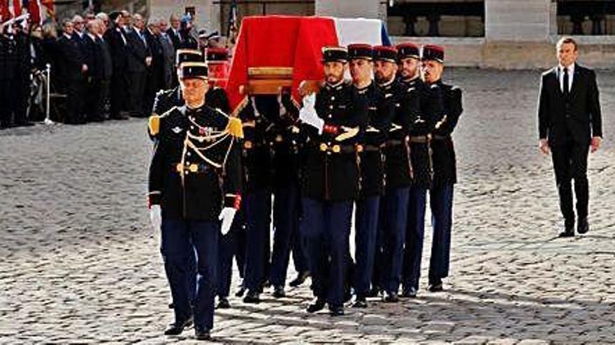 França dedica un darrer homenatge a l'expresident Jacques Chirac
