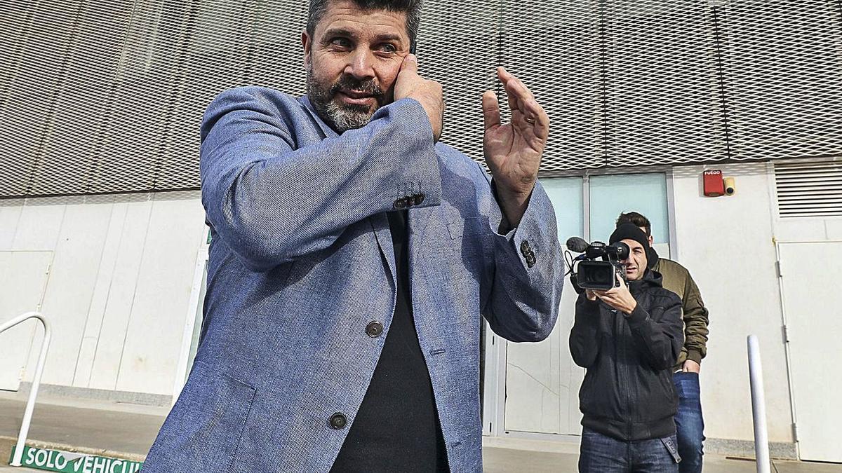 Bragarnik, el año pasado, en su primer día como máximo accionista del Elche.