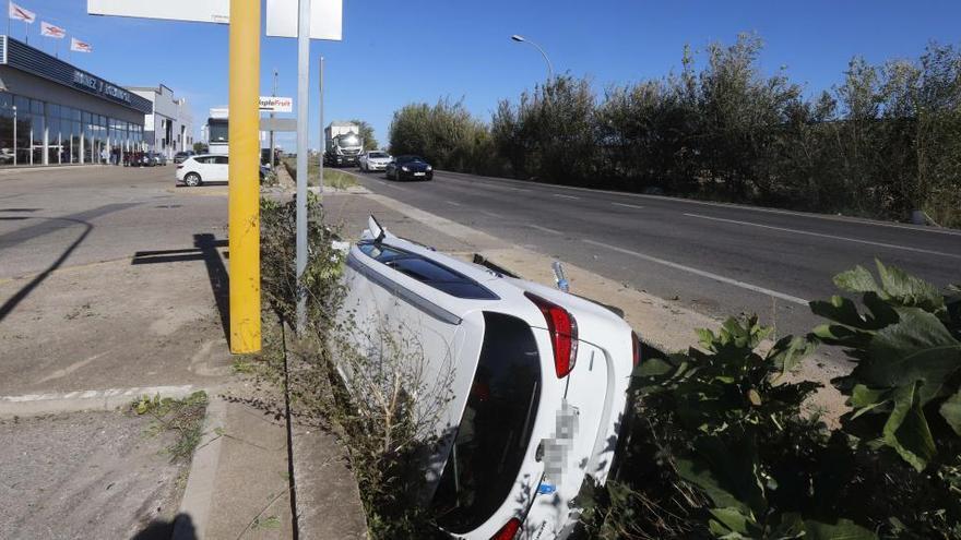Accidente de tráfico en Alginet.