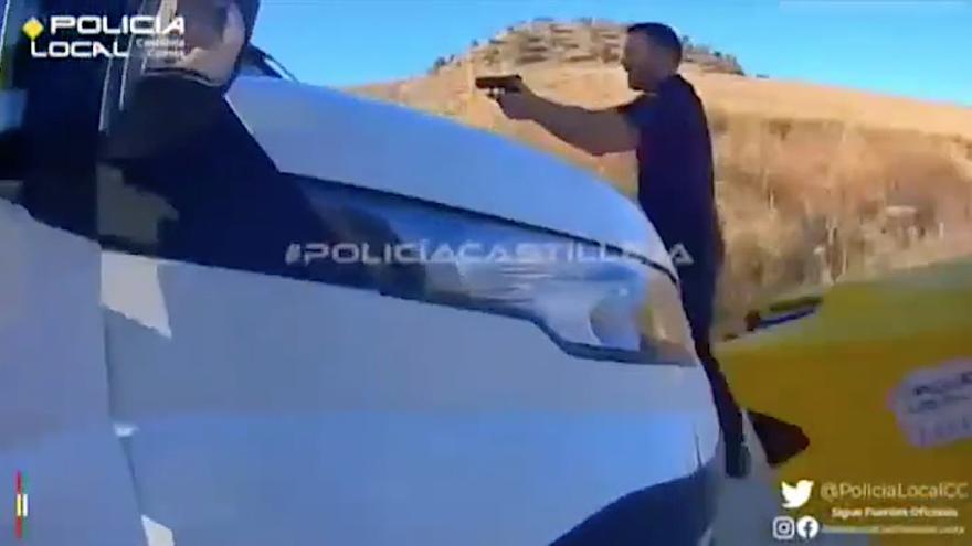 Espectacular persecución policial en Sevilla tras el atraco a un supermercado
