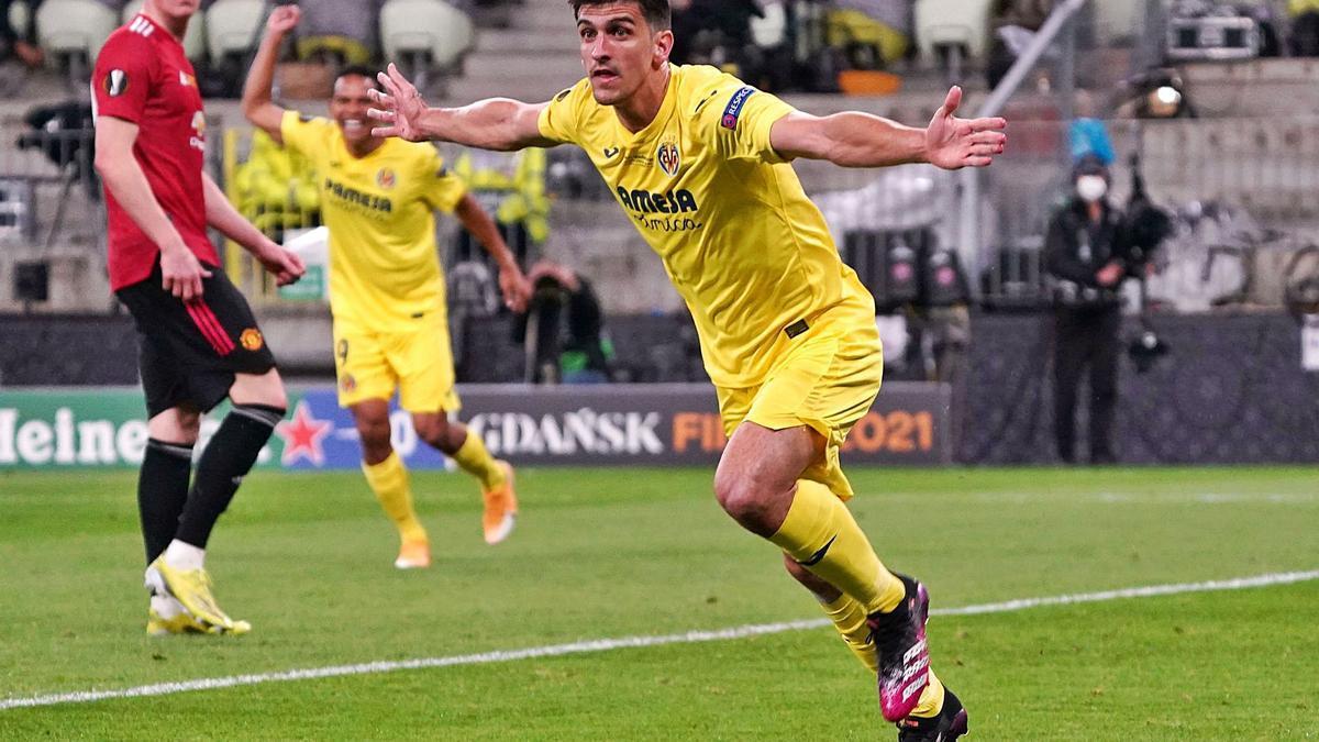 Gerard, autor del primer y único gol castellonense durante el tiempo reglamentario, celebra su consecución.  | // REUTERS