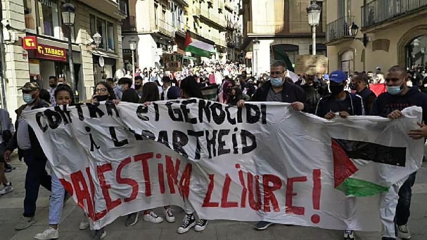 Concorreguda protesta a favor dels palestins a Manresa