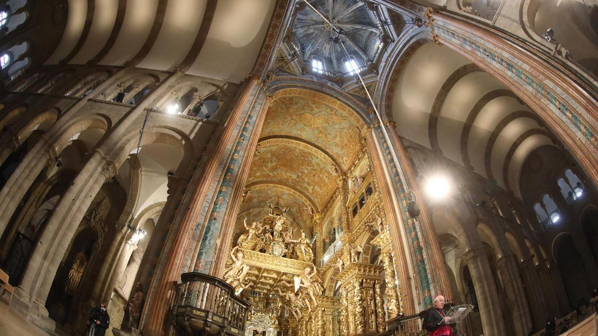 Interior de la catedral de Santiago, en una imagen reciente