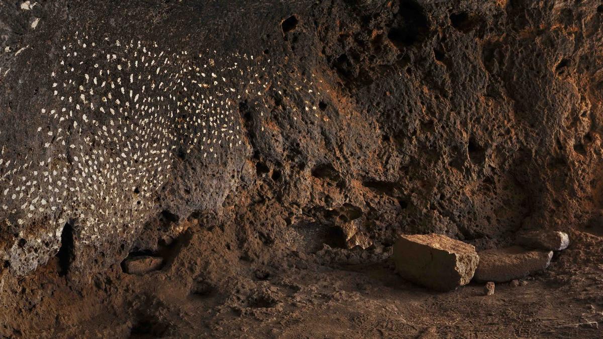 Interior de la Cueva de las Estrellas. Gran Canaria