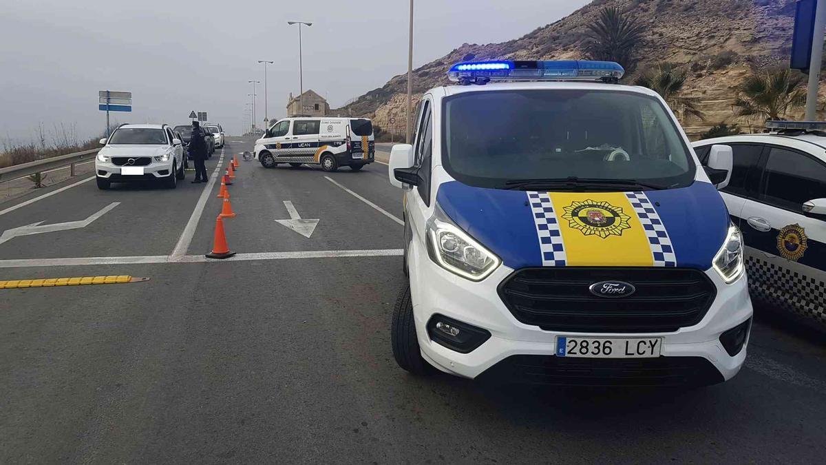 Control perimetral en Alicante en la cuarta jornada del cierre de la ciudad