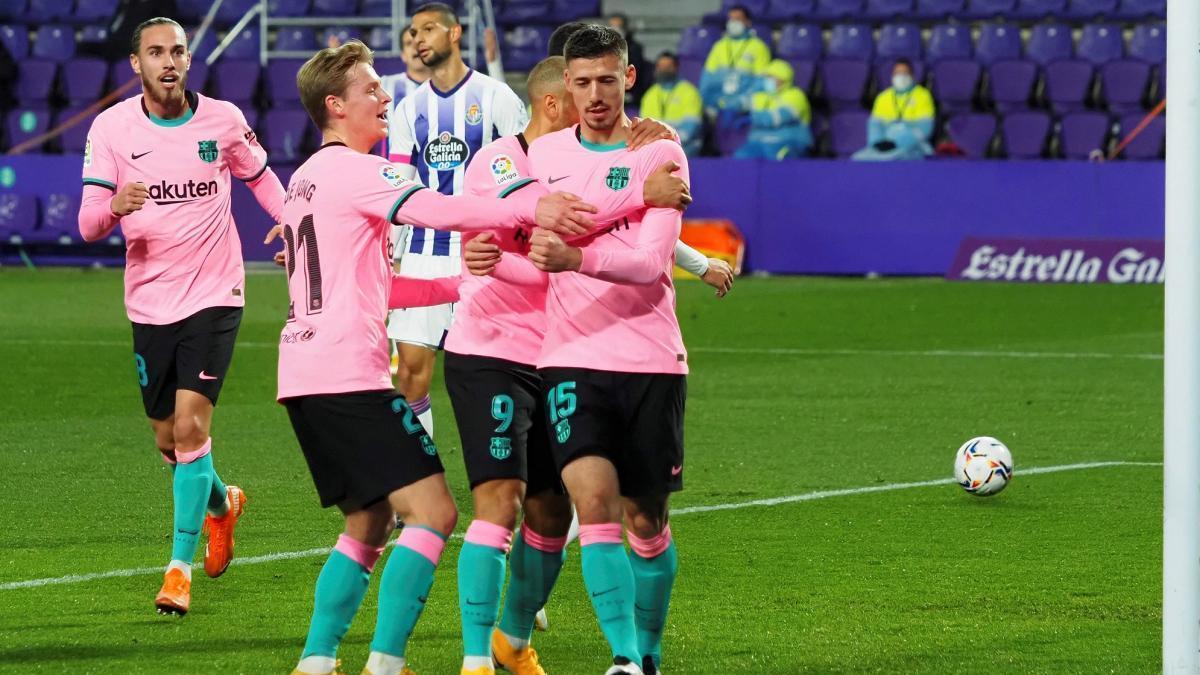 El Barça golea al Valladolid en Pucela