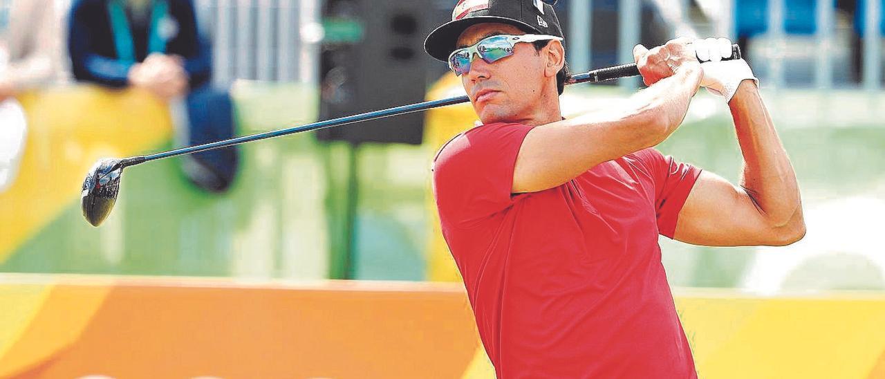 El grancanario Rafa Cabrera Bello ejecuta un golpe en los Juegos Olímpicos de Río 2016.