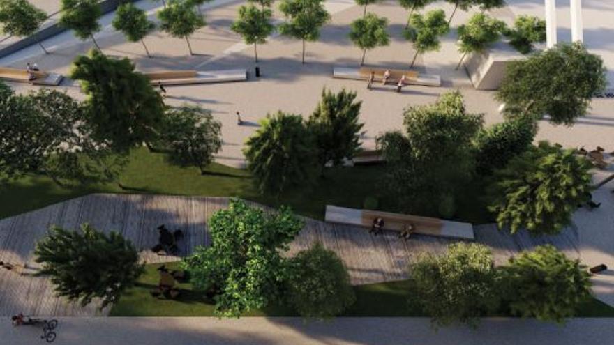 Un diseño de bosque urbano con guiños a la historia marinera y ferroviaria local
