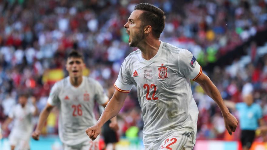 La afición disfrutó con la clasificación de España para los cuartos de final de la Eurocopa