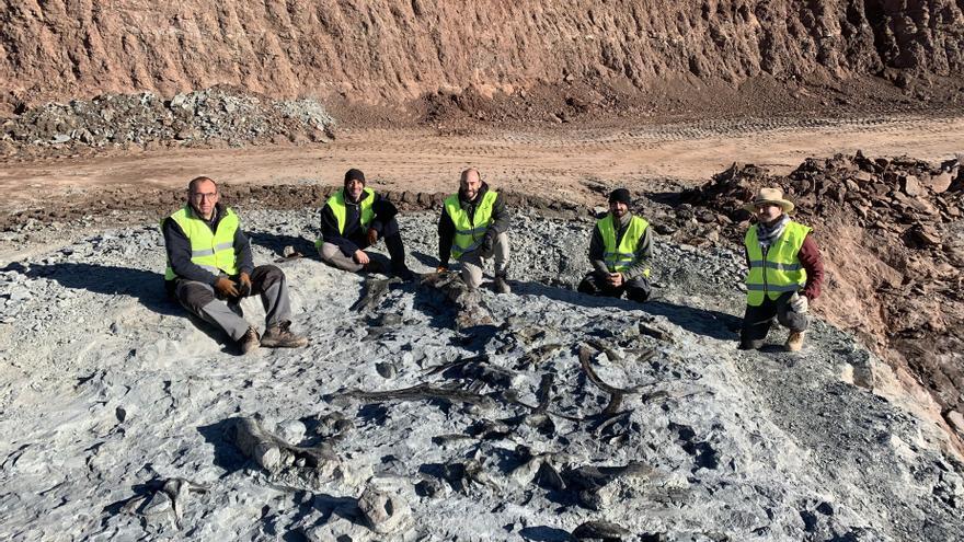 Hallan nuevos restos de dinosaurio en las minas de arcilla de Morella