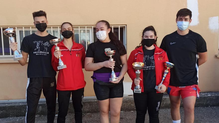 El Valencia Club de Halterofilia logra seis oros y dos platas en los autonómicos Sub-15 y Sub-17 y se clasifica para el de España Absoluto