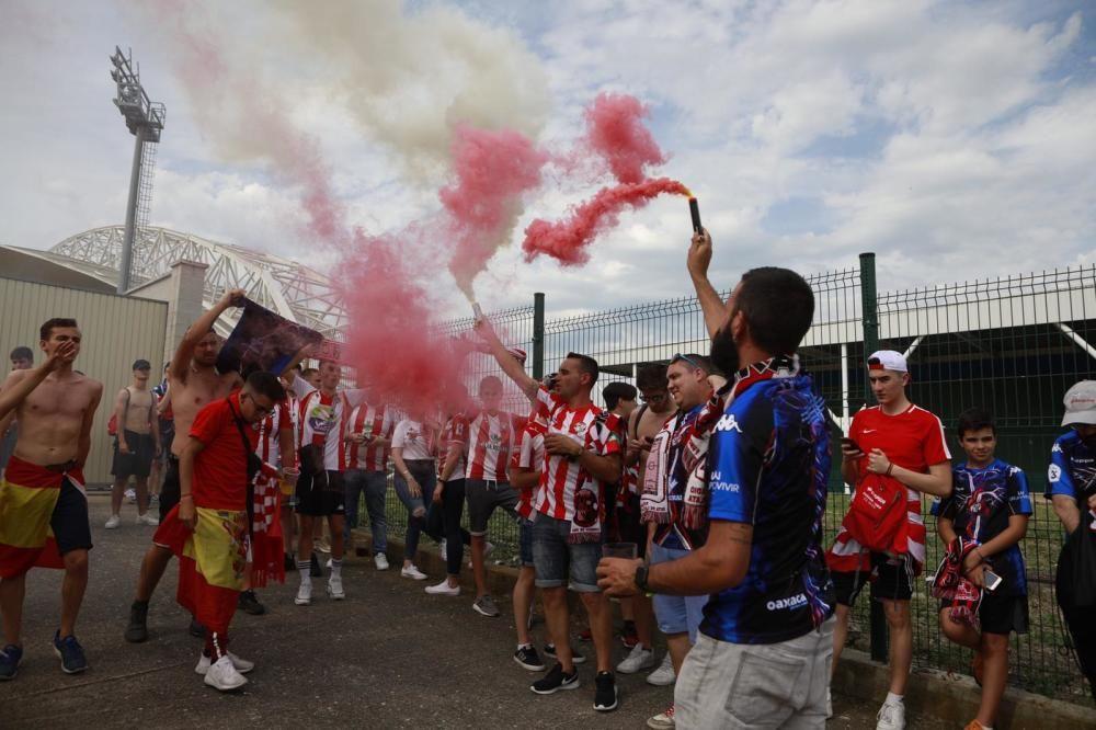 La afición del Zamora CF enciende Haro