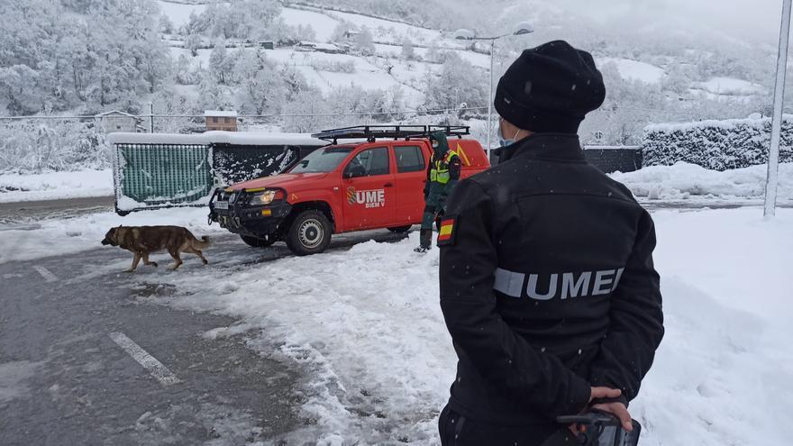 El operativo de búsqueda trabaja en la zona del alud de San Isidro para tratar de encontrar al trabajador desaparecido
