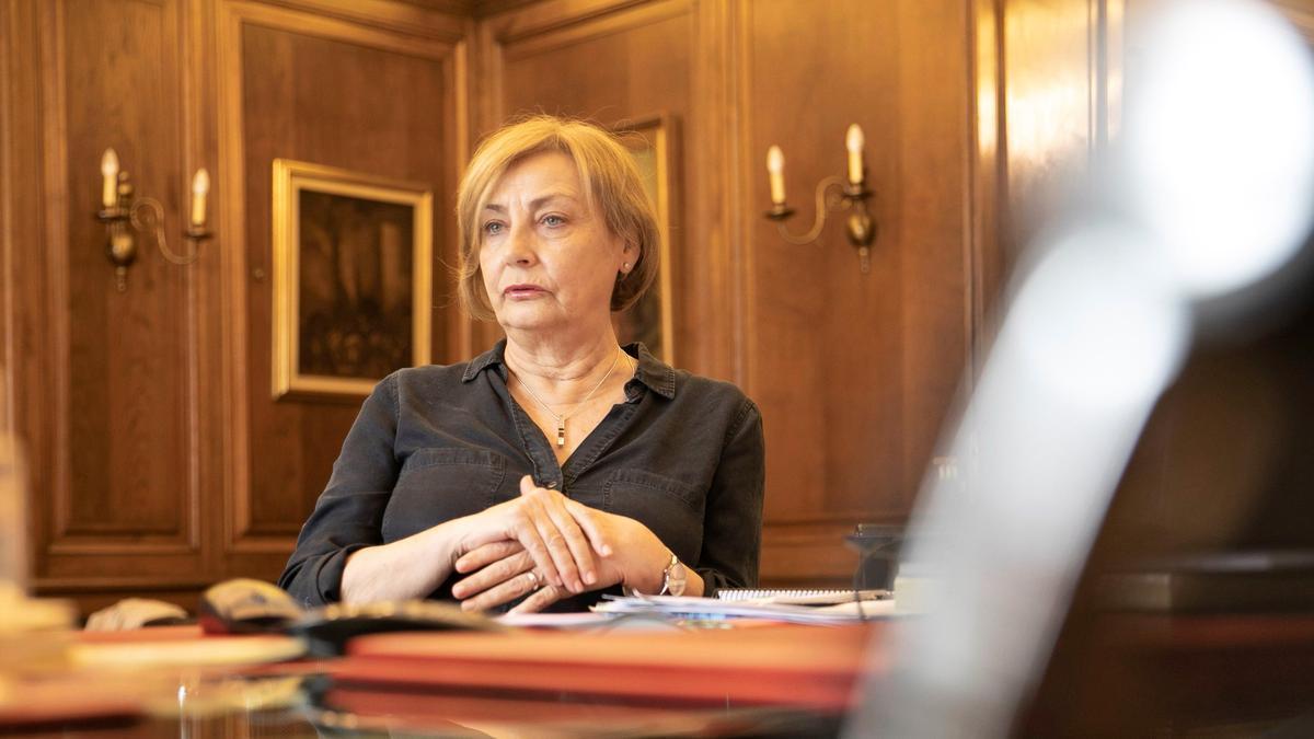 Mariví Monteserín, en su despacho, en una imagen de archivo.