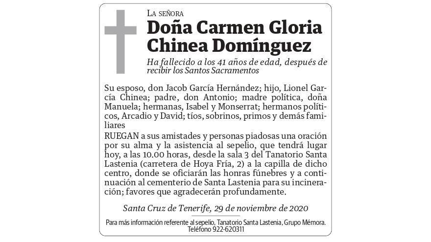 Carmen Gloria Chinea Domínguez