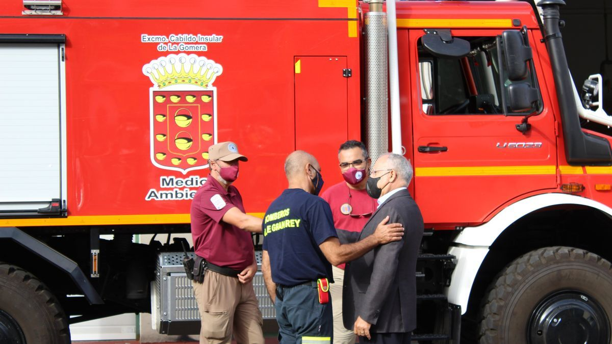 Casimiro Curbelo, en la presentación de la campaña contra incendios de La Gomera.
