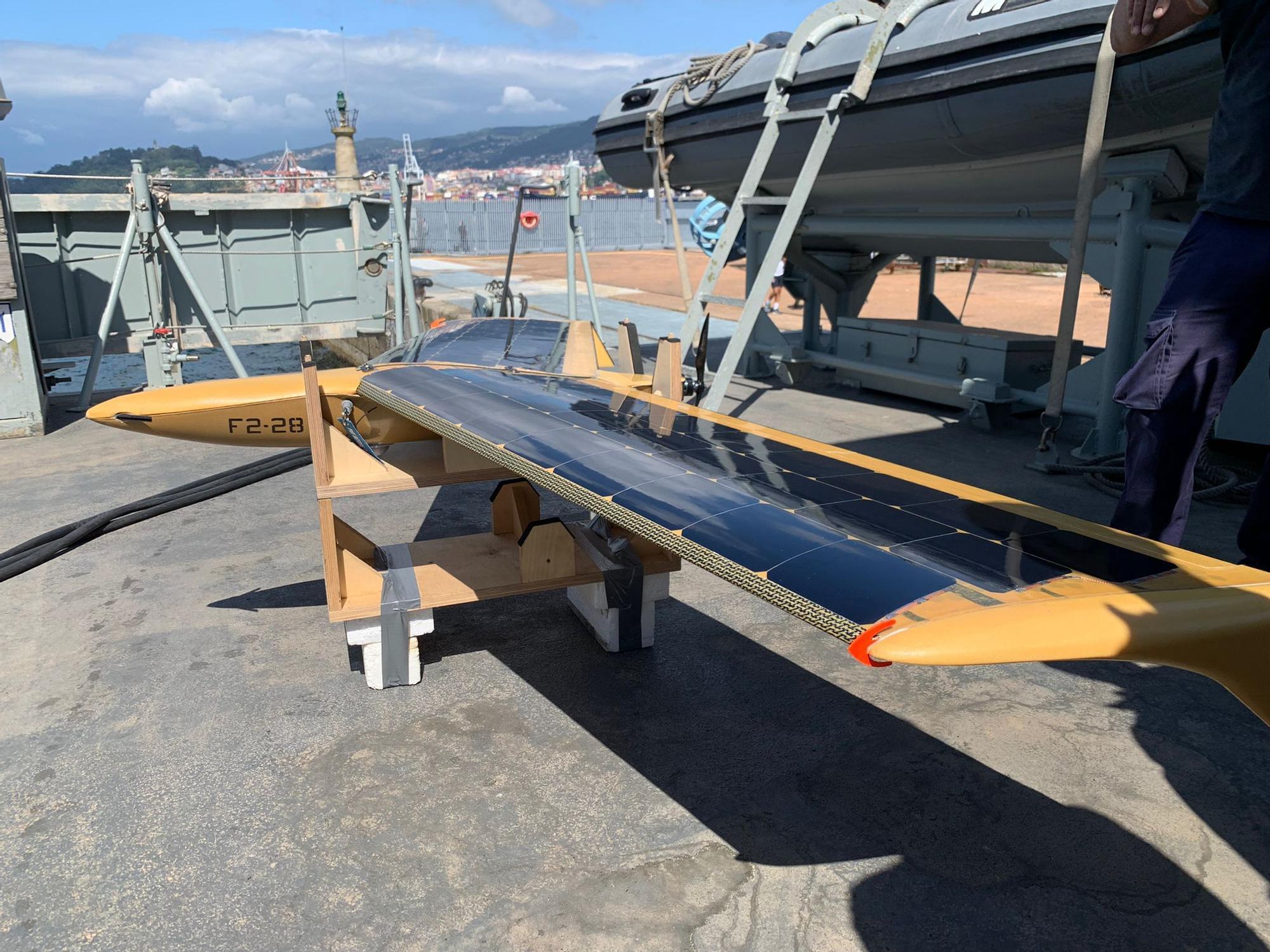 Pruebas del dron de Marine Instruments desde un cazaminas de la Armada