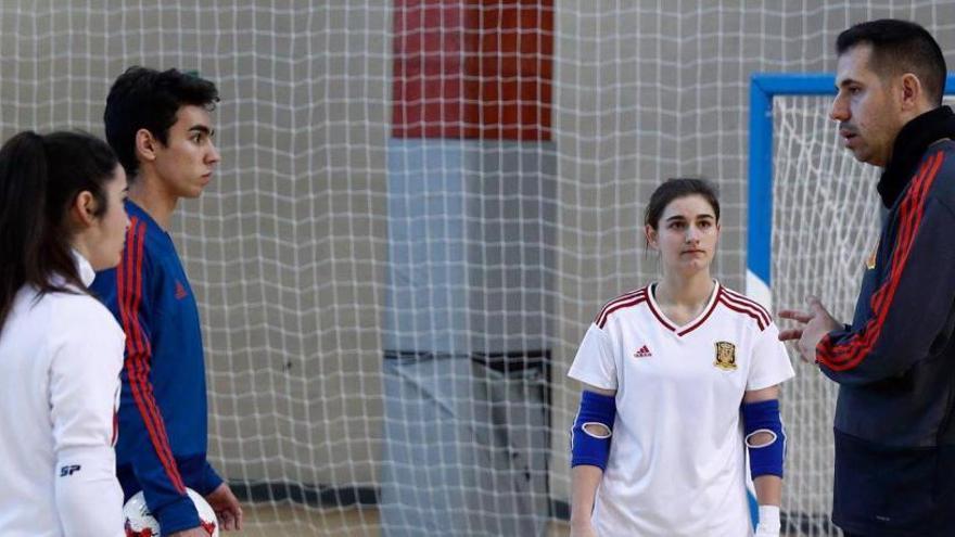 Ginés Gabarrón y Nerea Fernández, dos porteros de futuro