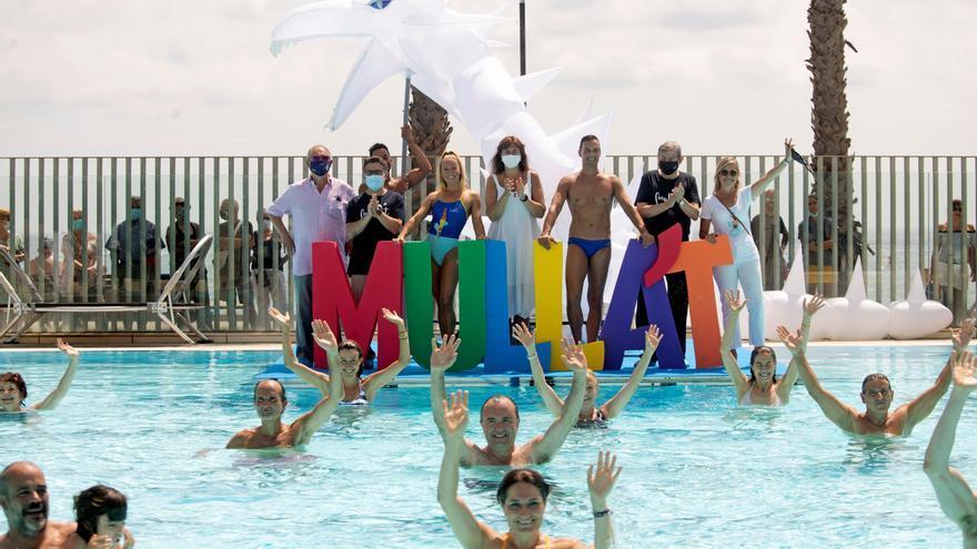 El «Mulla't per l'Esclerosi Múltiple» omple 450 piscines en una edició «especial»
