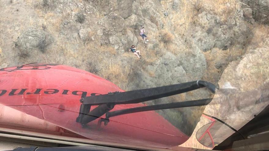 Rescatan a dos senderistas cerca de Cruz de Tejeda