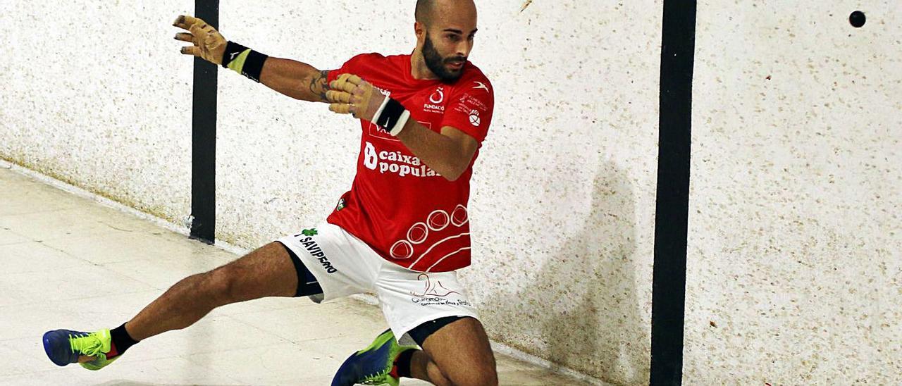 «Brisca», en acción, durante una partida de la Copa Diputació-Caixa Popular de 2020. | FUNPIVAL