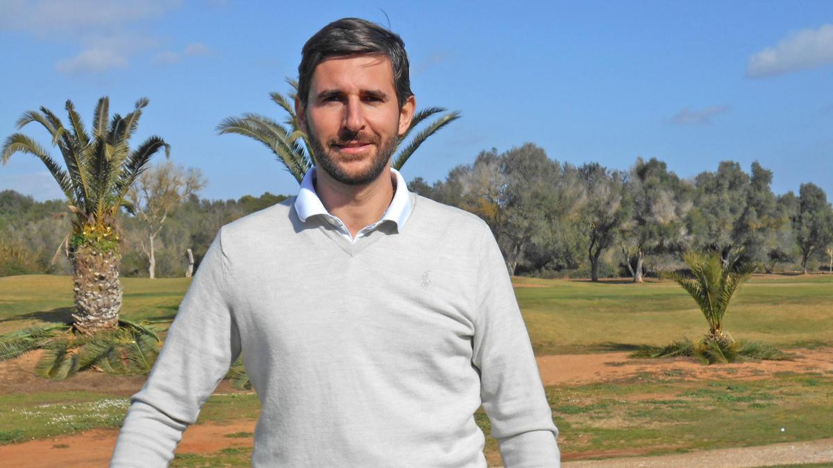 Yago González, en el club de golf Son Antem.