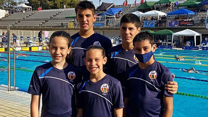 Cinc nedadors del CN Figueres al campionat català