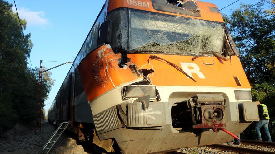 Accident de tren a Sils: 12 ferits pel xoc d'un comboi amb un arbre