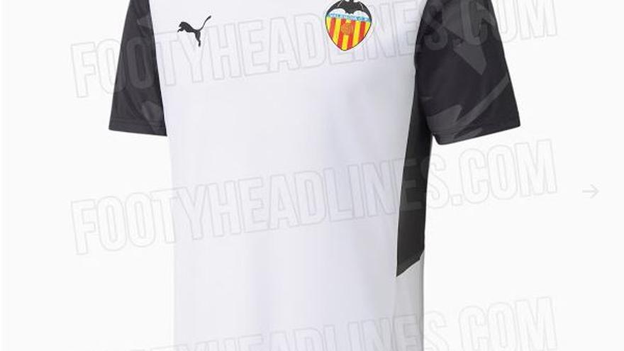 Filtran las posibles camisetas del Valencia 21/22