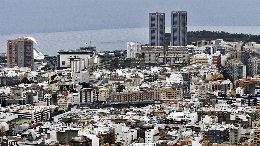 Vista de una parte de Santa Cruz de Tenerife.