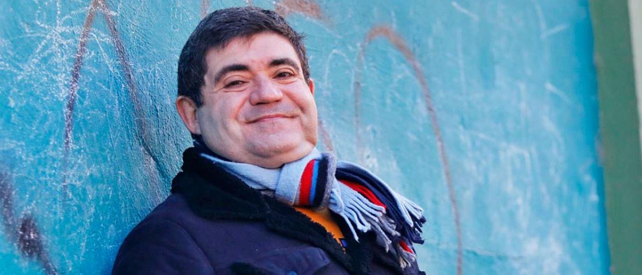 Ferran Gadea, ayer, antes del primer día de rodaje de la serie. |  M.Á.MONTESINOS