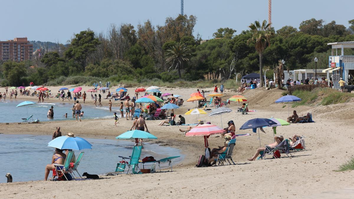 Aspecto que presentaba el litoral de Torre La Sal este fin de semana pasado.