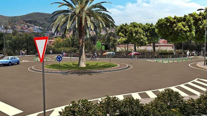 La glorieta del mercado permite peatonalizar calles en el casco