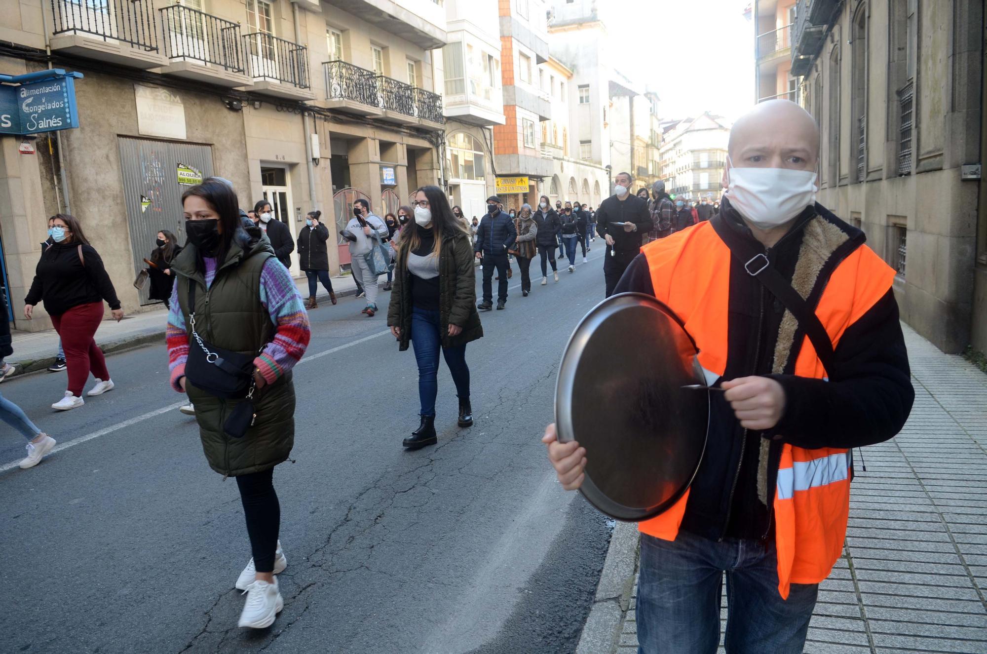 Manifestación masiva de la hostelería en Vilagarcía