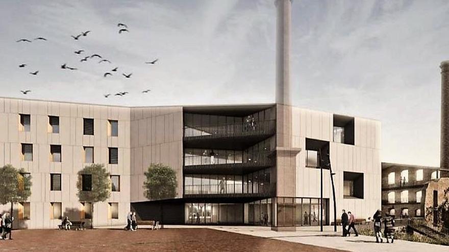 Sallent aprova el projecte de la residència, que s'alçarà als terrenys de la Fàbrica Vella