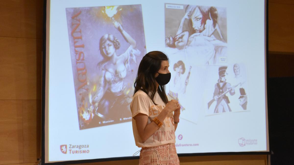 Idoya Barrabés, directora de MilyUna Historias, durante la presentación de la segunda fase del casting.