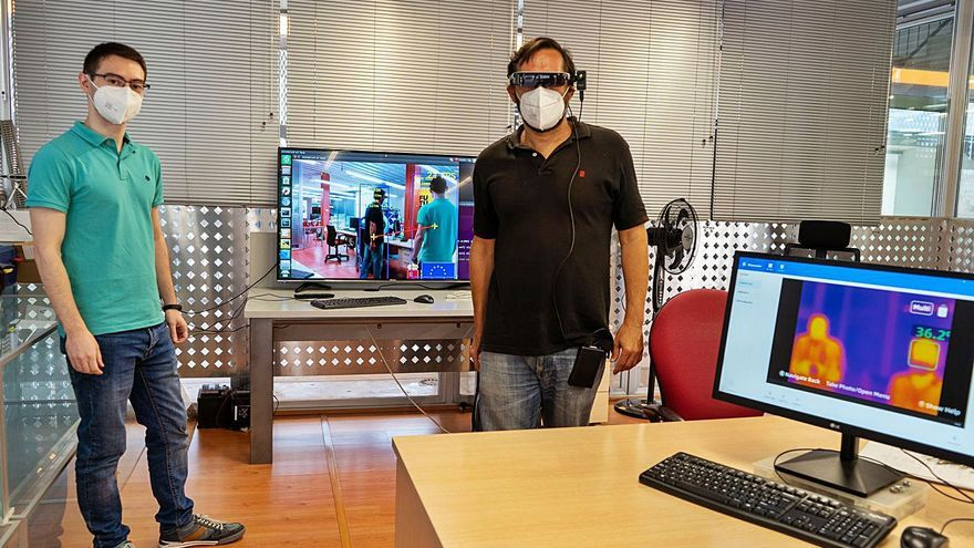 Gafas de visión térmica a prueba de virus